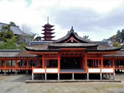 2019年3月 桜見ツアー 宮島前編 宮島口からフェリーで移動し厳島神社参拝