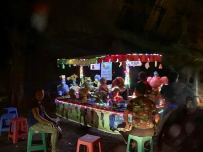 バリ島の夜市などで見かける、移動式の子供用遊園具