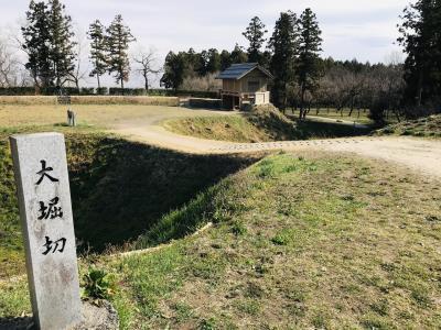 群馬県の城跡巡り:箕輪城跡、大規模な遺構をハイキング気分