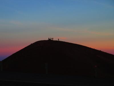 ハワイ3島巡り(9)ハワイ島・マウナケア山頂サンセットと星空