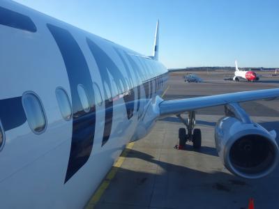 エアバスA321に乗りました。HEL-BCN Finnair AY1653便です。