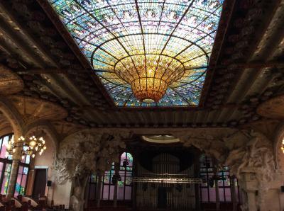 ラテン系を廻る旅  第3章 西班牙   バルセロナ 4  Palau de la Música Catalana