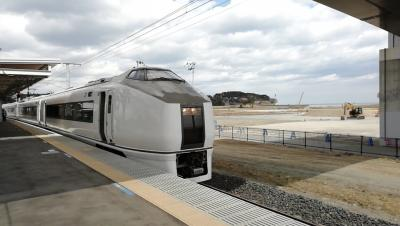 JR常磐線 浪江-富岡代行バス 富岡-いわき651系普通列車 2019年4月
