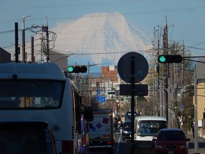 上福岡駅から見られた富士山は素晴らしかった