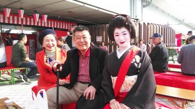 平成最後の御花見は向島から言問橋、芸子さんの茶店にも寄りました。