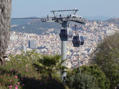 バルセロナを歩く (2.1) 高いところがすき。モンジュイック城に上り,町を眼下に見下しました。