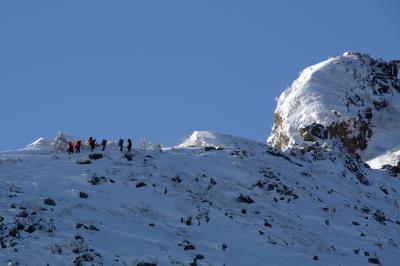 天狗岳登山。