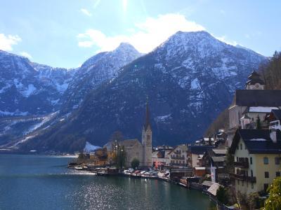 早春のオーストリア&チェコ2人旅 珠玉の4つの街を巡る5泊7日+ おまけの1Day台北 (4)ハルシュタットは雨でも晴れでも美しかった。