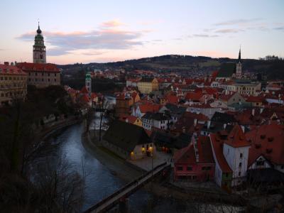 早春のオーストリア&チェコ2人旅 珠玉の4つの街を巡る5泊7日+ おまけの1Day台北 (5)バスで国境越え!チェスキークルムロフへ