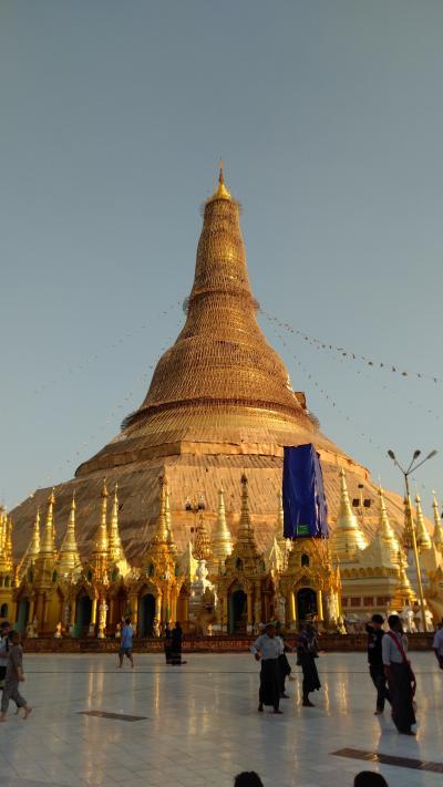 ミャンマー  ヤンゴン環状線とシェダゴンパゴダ 2019