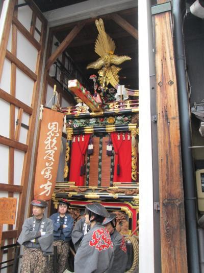 岐阜県飛騨地方の旅 2(小雨で中止となった春の高山祭の初日)