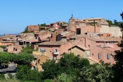 南仏の美しい村とラヴェンダー畑を巡る旅(8)『フランスの最も美しい村』ルシヨンはオークルに染まる村☆Roussillon