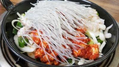 2019年4月釜山1日目ハマってしまった料理(タコ炒め)