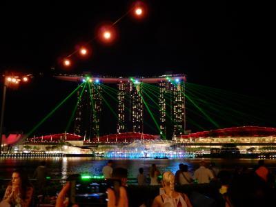 シンガポール家族旅行★1日目  宿泊したアパートメントとマリーナの夜景