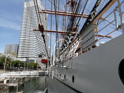【ぶらちふりん】みなとみらいGWにはイベントいっぱい?帆船でかい!日本丸の中にも入ったよ。