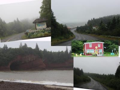 カナダ東部5州、ドライブ旅行2018 Day12-3(Fundy Trail Parkwayを目指すも、雨で…)