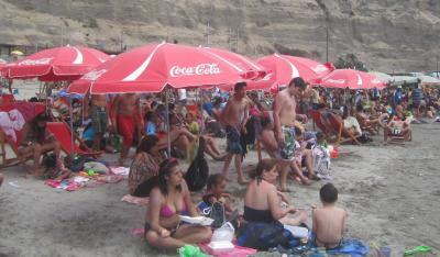 ペルー リマの海岸(海水浴場)