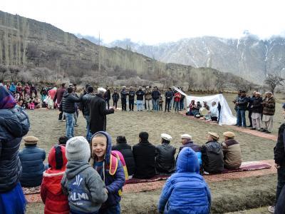 パキスタン フンザ2019・・・(5)カラコルムの山々にいだかれて踊る人々 結婚式セレモニー