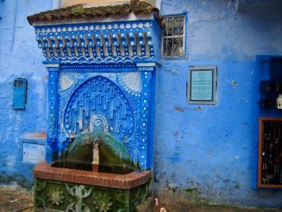 モロッコ旅行 青の街シェフシャウエン編