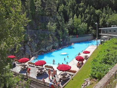 カナダ クートニー国立公園 マーブル渓谷 ラジウム温泉