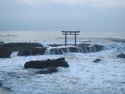 '19 茨城さんぽ4 神磯の鳥居から日の出を見る&大洗磯前神社