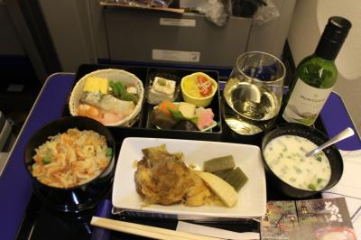 【搭乗メモ】NH76便、新千歳→羽田、四月下旬プレミアムクラスの夕食。