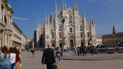 ゆったりミラノ滞在の旅(07) 市内観光バス乗車観光後、ホテルへ戻りました。