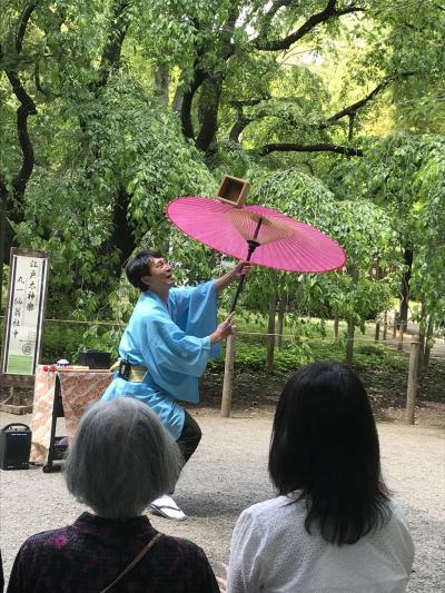 六義園で江戸太神楽を楽しむ