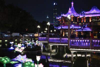 武漢から上海へ、夜の豫園散策