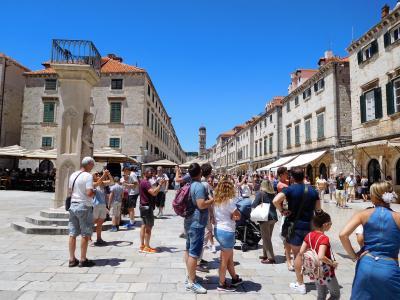 2018年6月 東欧6日目 クロアチア・ドブロブニク その5 旧市街地散歩 聖イグナチオ教会他しつこく散歩