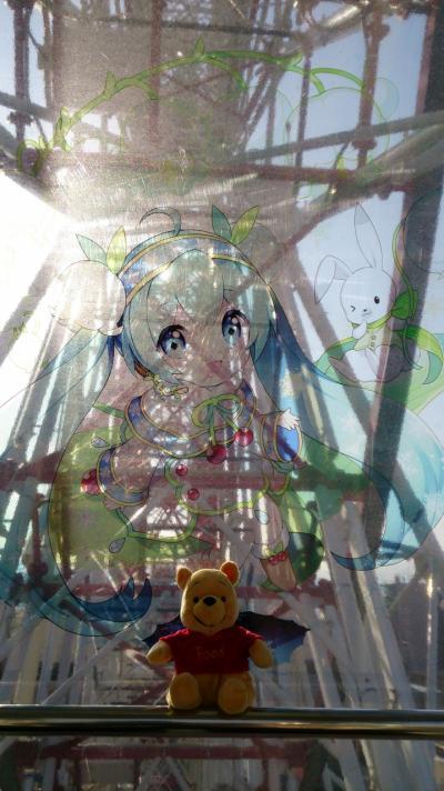 2015年3月札幌旅行 雪ミク観覧車乗車