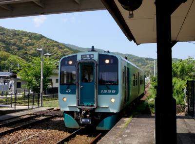 徳島高知ドライブ旅行5-道の駅日和佐で焼きそばで昼食,甲浦まで列車で戻る 日和佐まで戻り南阿波サンラインへ