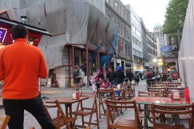 イスタンブールのオープンカフェ