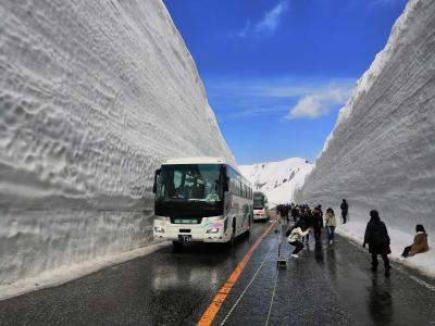 立山黒部アルペンルート雪の壁と金沢の旅(1日目)