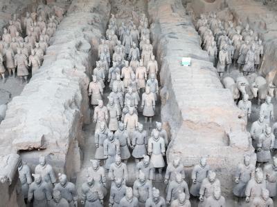 中国西安・敦煌旅行5日目:秦始皇帝陵博物館で兵馬俑、華清池で楊貴妃に・・