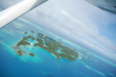 2018 パラオ旅行記  (5)最終日は「空から眺める絶景のパラオ」