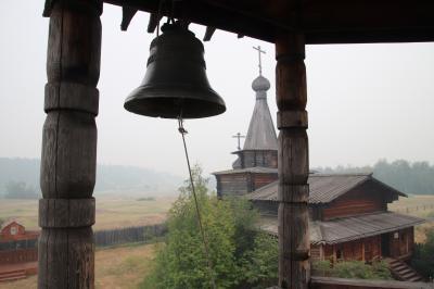 2018年シベリア・サハ共和国ヤクーツクへの旅(23)ソツィンツィ編その1:木造建築が移設された広大なドルージュバ(友愛)野外建築博物館