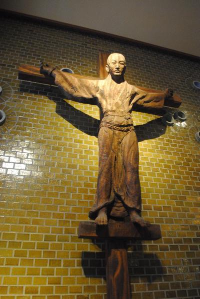 長崎へ! 夫婦共に初めての長崎を訪れました。  その8 カトリック大浦教会で復活祭のごミサにあずかってから、日本二十六聖人記念館へ。
