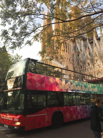毎日歩きまくった母娘のGWスペイン旅行8泊10日 Vol. 6 ダブルデッカーのバス・ツーリスティックでバルセロナ市内観光♪