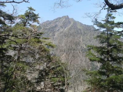 面河渓から石鎚山へ(ただし途中まで)