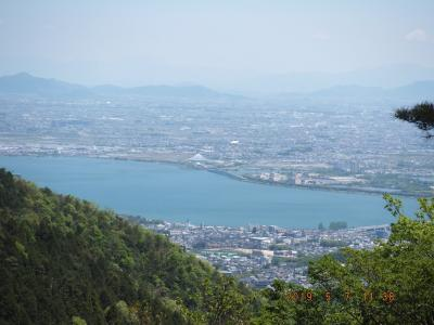 音羽山: 六地蔵から醍醐寺、横峯峠経由で、音羽山から琵琶湖と京都市街をパノラマで見る