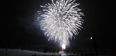 感激!スキー場で花火in富良野