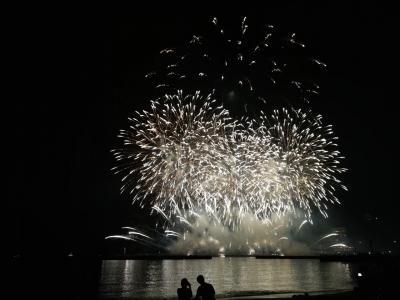 春の熱海の花火大会、素晴らしかった!あとはラーメンとハンバーグ