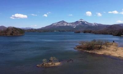 磐梯山と桧原湖(ひばらこ) を空撮してきました【福島県】東北 GW お花見 ドライブ 初日 2019