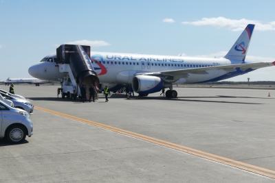 ウラル航空に乗って新千歳経由で成田へ