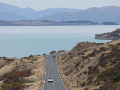 2019年GW 上海経由ニュージーランドの旅 マウントクックからテカポへの絶景ロード