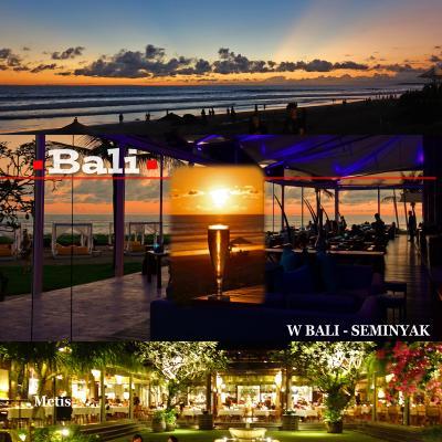 GW、5度目のバリ島5-The One Boutique Villa宿泊、Wバリスミニャックで夕陽鑑賞、本格フレンチ メティス(Metis)