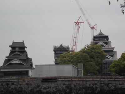 地震で被害にあった「熊本城」へ