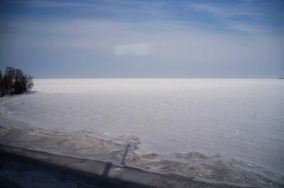 冬のモンゴル・シベリアへの旅4 ロシアに入国 シベリア鉄道から眺める凍てつくバイカル湖 (Frozen Lake Baikal)