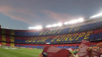 欧州チャンピオンズリーグ 準決勝 バルセロナVSリバプール カンプノウスタジアム観戦